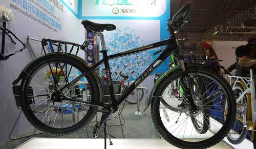2015北京自行车展,无链条自行车备受用户称赞